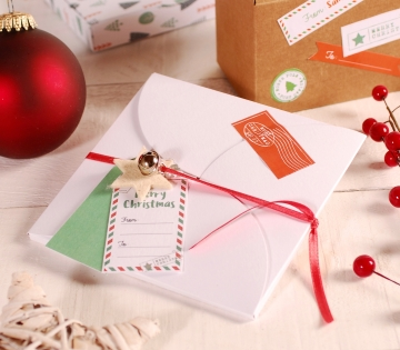 Weihnachtsdekoration für flache Schachtel für Umschlag