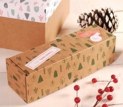 Oblong Christmas box decoration