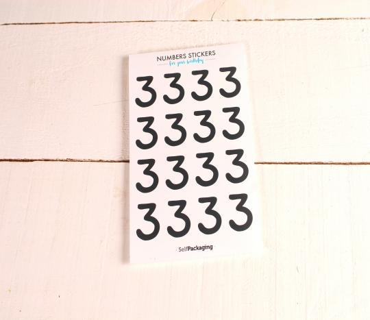 Números adhesivos