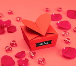 Caja en forma de corazón
