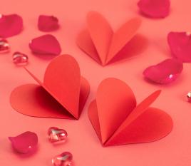 3D-Herzen aus Tonkarton