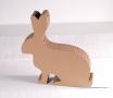 Rabbit-shaped cardboard box.