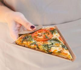 Scatola porzione pizza