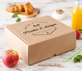 Kartonschachtel für Frühstück