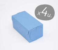 Pack of 4 boxes for cupcakes with a cardboard cover