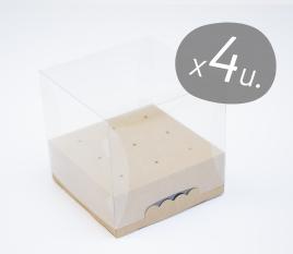 Set da 4 scatole quadrate per Cake Pop