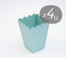 Packung mit 4 Schachteln für Popcorn