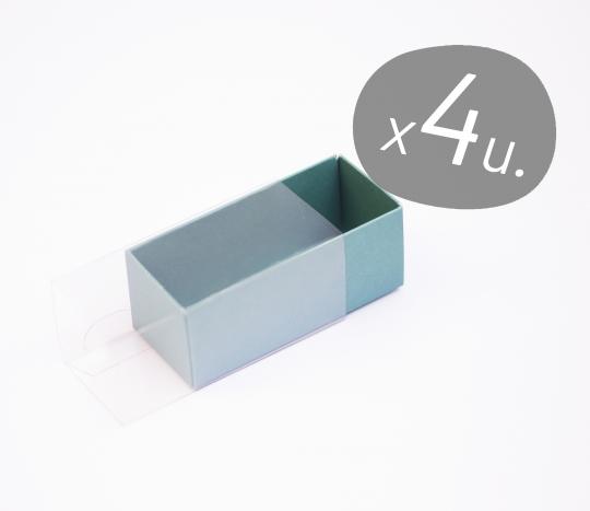 Pack de 4 cajas alargadas para Macarons