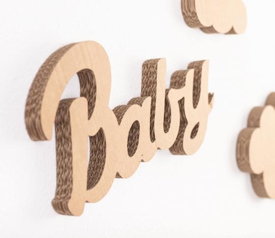 Cardboard lettering