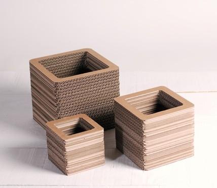 Jarrones de Cartón