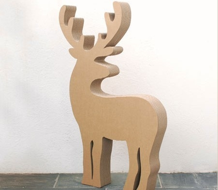 Renna Decorativa In Cartone Ideale Per Natale