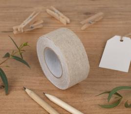 Fabric tape di lino largo