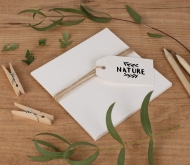 Cartoncini di carta riciclata 12 x 12 cm