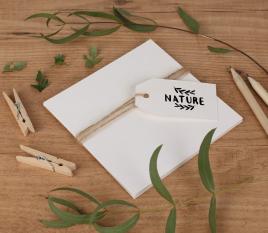 Recycling-Karten aus Karton 12 x 12 cm