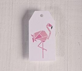 """Bedruckte Etiketten """"Flamingo"""""""