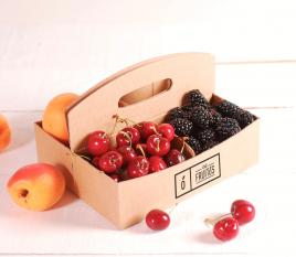 Schachtel aus Karton für rote Früchte