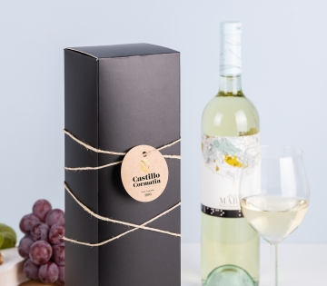 Caja de vino negro mate