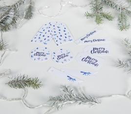Etichette bianche Natale