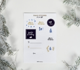 Weihnachtsaufkleber zum Beschriften