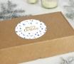 Adesivo per scatola natalizia