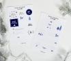 Adesivi natalizi per scrivere