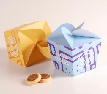 Lustige Schachtel für Kekse