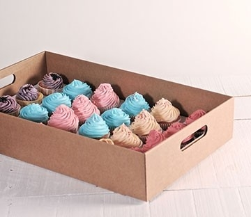 Cardboard cupcake tray