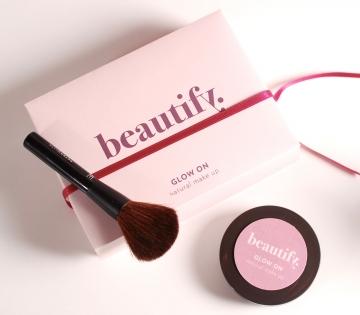 Contenitore per cosmetici rosa