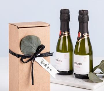 Caja de envío alargada para vinos