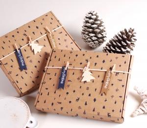 Caja para postal navideña