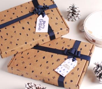 Etiqueta regalo navideña