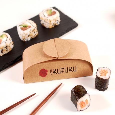 Caja tres unidades sushi