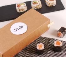 Scatola di cartone per sushi con porta-bastoncini