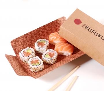 Caja rectangular sushi