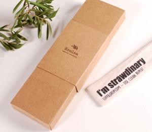 Schachtel für wiederverwendbare Strohhalme