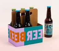 Beer box with a handle