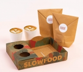Bandeja apilable para street food