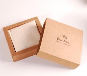 Schachtel für Beutel und Servietten aus Öko-Stoff