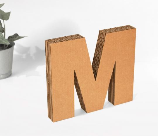 Uppercase Cardboard Letters
