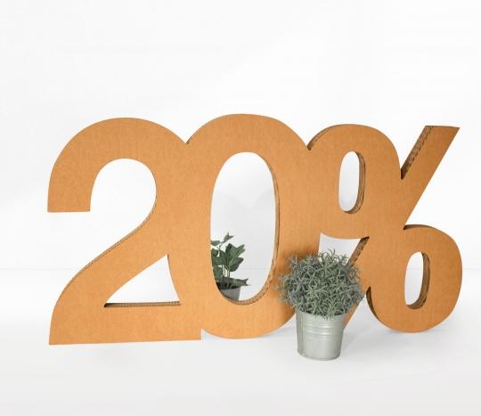 Percentuale in cartone