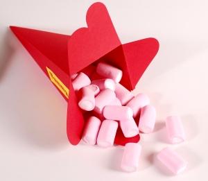 Konische Schachtel für Bonbons