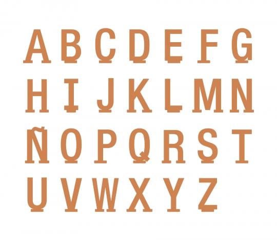 Letras de cartón gigantes