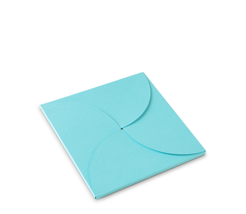 Flat gift box for square cards