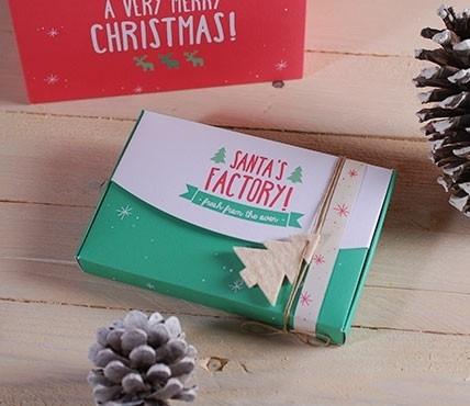 Cajas navideñas tipo fotografía