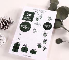 Kit di adesivi ed etichette natalizi