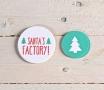 Kit di etichette abete + Santa's