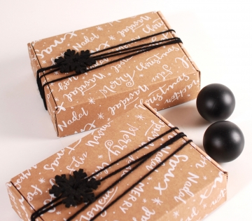 Rectangular box for Christmas shipping