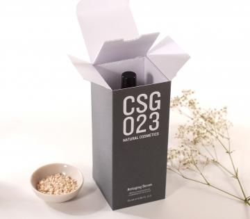 Elongated box for fragrances