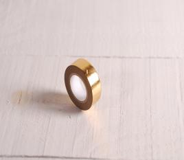 Washi tape dorado con estampado geométrico