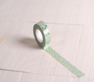 Mint-coloured washi tape with gold confetti